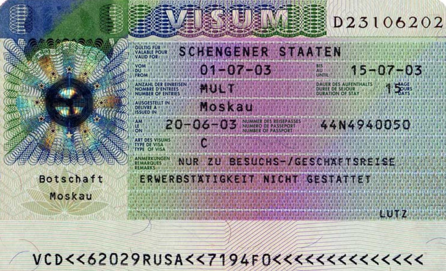 Виза шенген какие страны и цена