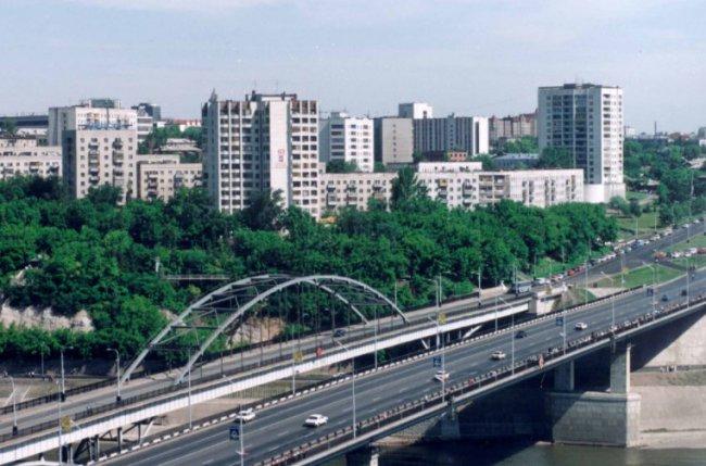 автомобильный мост в Уфе